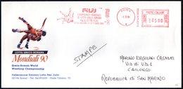 ITALIA ROMA 1990 - METER / EMA - GRECO-ROMAN WORLD WRESTLING CHAMPIONSHIP - OFFICIAL ENVELOPE - Lucha