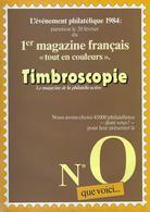 TIMBROSCOPIE N° 0 - Magazines: Abonnements