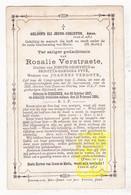 DP Rosalie Verstraete / Fyvé ° Rumbeke Roeselare 1807 † 1884 X Joannes Vergote - Images Religieuses