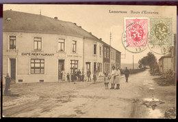 Cpa Lamorteau   1932   Café - Rouvroy