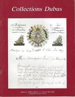 COLLECTIONS DUBUS 1988 VENTE AUX ENCHERES  PUBLIQUES - Catalogues For Auction Houses
