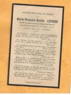 IMAGE GENEALOGIE FAIRE PART AVIS DECES CARTE MORTUAIRE AVOCAT COURS APPEL POITIERS M FRANCOIS LEVRIER 1853 1916 - Obituary Notices