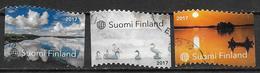 Finlande 2017 N°2462/2464 Oblitérés Paysages De La Nature - Finnland