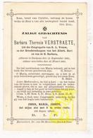 DP Barbara Th. Verstraete ° Oekene Roeselare 1825 † 1881 - Images Religieuses