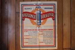 Affiche Politique Alliance Universitaire  Anti Allemande - Documents Historiques
