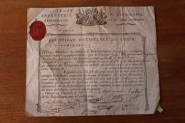Infanterie Republicaine Bataillon De La Seine Inferieure   AN 2 Revolution  Cachet Normandie - Documents Historiques
