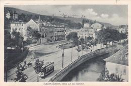 993/ Baden-Baden, Blick Auf Den Bahnhof, Tram, 1913 - Baden-Baden