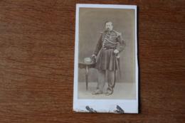 Cdv Second Empire L'officier  De La Gendarmerie Imperiale Par  Delsart  Valenciennes - Guerra, Militares