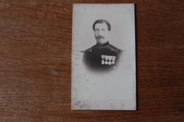 Cdv Second Empire Officier Du Genie Avec 4 Decorations   Par SEE - Guerre, Militaire