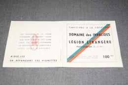 RARE ,manque Le (c) De Création,carnet Timbres Commémorant, La Création De L'Institution Des Invalides ,Légion étrangère - Advertising
