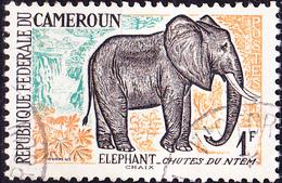 Zentralafrika - Afrikanischer Elefant (Loxodonta Africana) (Mi.Nr.: 356) 1962 - Gest Used Obl - Cameroun (1960-...)