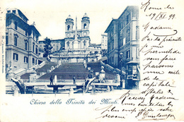 Thematiques Italie Roma Chiesa Della Trinita Dei Monti Timbre Cachet 1899 - Roma (Rome)