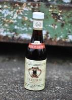 Rare Ancienne Mignonnettes Vin Reine Pédauque Fleurie - Miniature