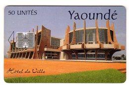 CAMEROUN REF MV CARDS CAM-36 50 U YAOUNDE Verso INTELCAM - Cameroun