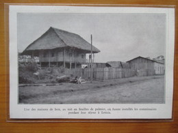 1935 COLOMBIA Colombie - Village De LETICIA    -  Coupure De Presse Originale (encart Photo) - Historische Dokumente