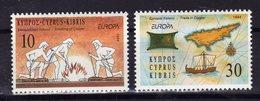 CHYPRE Cyprus 1994 Europa Yv 821/822 MNH ** - Nuovi