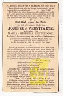 DP Ouderling Josephus Verstraete 98j. ° Rumbeke Roeselare 1799 † Rollegem-Kapelle Ledegem 1897 X M.Th. Bertheloot - Images Religieuses