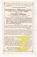DP Barrbara Verstraete / Thermote ° Rumbeke Roeselare 1804 † 1894 X Joannes Verraes - Images Religieuses