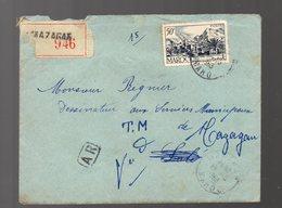 Maroc : Lettre Recommandée Avec AR  1953 ..timbre 50f (PPP16745) - Maroc (1956-...)
