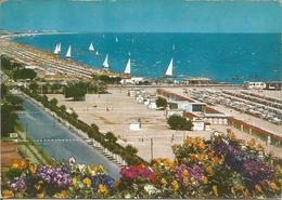 RICCIONE. La Spiaggia.  (scan Verso) - Italie