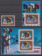 North Korea 10.08.1980 Mi # 2038 2038-39 Kleinbogen Bl 80 1980 Lake Placid Winter Olympics Chmpions MNH OG - Inverno1980: Lake Placid