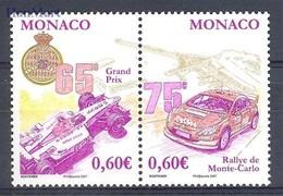 Monaco 2006 Mi 2830-2831 MNH ( ZE1 MNCpar2830-2831 ) - Cars