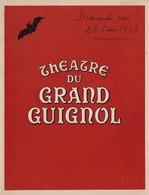 Programme Théâtre  Du Grand Guignol Paris 1952 - Programmes