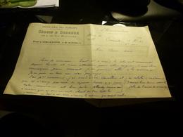 FACTURE DISTILLERIE DES GOBELINS SEGUIN ET DEDREUX A MEMORANDIN 189  GARE DE FROISSY OISE - 1800 – 1899