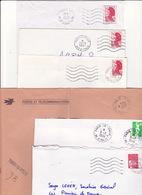 Lot 29 Lettres Oblitération PARIS XIII 13 Baptisé 13 ITALIE + Centre Distribution : TàD Manuel KRAG RBV SECAP Flamme PP - Marcofilia (sobres)