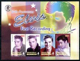 Micronesia, 2002, Elvis Presley, Singer, Actor, MNH Sheet, Michel 1550-1553 - Micronésie