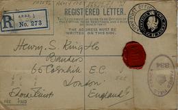 1917- REG. LETTER  Two Pence  De L'A P O . S.1.  Situé à ABBEVILLE ( Somme ) Censure 338 - Guerre De 1914-18
