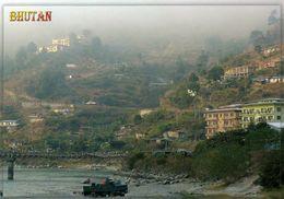 1 AK Bhutan * Blick Auf Den Ort Khuruthang * - Bhoutan