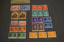 Superbe Lot De 25 Timbres Belge,strictement Neuf,1945,belle Collection - WW II