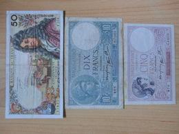 Lot 10 Billets 5F 10F 50F 100F Et 200F - France