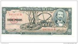 Cuba 10 Peso 1960 Signature CHE NEUF - Cuba