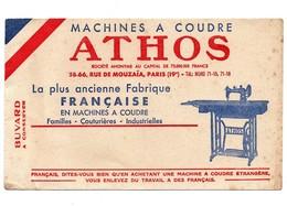 Buvard Machines à Coudre Athos - Buvards, Protège-cahiers Illustrés