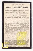 DP Pieter Schacht Maes / Vanden Dorpe / Goddeeris ° Rumbeke Roeselare 1824 † 1910 Oekene / EH Pastoor Hennequin Hooglede - Images Religieuses