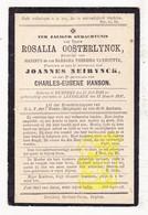 DP Rosalia Oosterlynck / VanHoutte ° Rumbeke Roeselare 1810 † Lendelede 1897 X J. Neirynck Xx Ch. Hanson - Images Religieuses