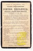 DP Pieter DeClercq / DeBoutte ° Roeselare 1820 † Rumbeke 1892 - Images Religieuses