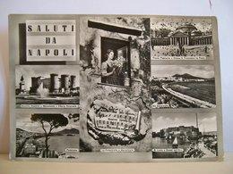 Scritta - Saluti Da Napoli - Vedute - Castello - Piazza Plebiscito - S. Lucia E Castel Dell'Ovo - Vera Fotografia - Souvenir De...