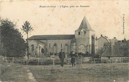 63 - MONTEL DE GELAT - L'EGLISE PRISE SUR AUZANCES - édit; F. BOEUF à MONTEL DE GELAT - Autres Communes
