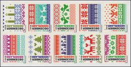 3051-3060 Dezembermarken 2012 (2x5 Marken) - Folienbogen / Zehnerblock ** - Niederlande