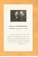 IMAGE GENEALOGIE FAIRE PART AVIS DECES CARTE MORTUAIRE EHELEUTE MR MME SECKLER BOETSCH 1940 - Décès
