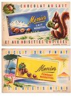 Buvard Chocolat Menier Lait Noisettes Fondant Ecureuil Paysage Helbé (2 Buvards) - Chocolat