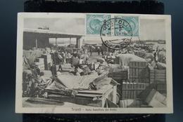 Carte Photo Libye Libia Afrique Tripoli  Italie Port Nella Banchina Del Porto Dockers Quais De Chargement - Libya