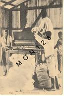 TOGO - BAUMWOLLE-ENTKERNUNG - BOULES DE COTON -POSTEE DE COTONOU DAHOMEY -feuille Avec Adresse Et Timbre Ajoutée Au Dos - Togo