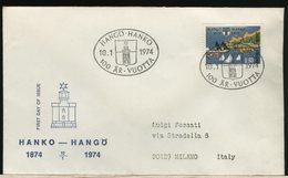 FINLANDIA - SUOMI - FDC - HANKO HANGO - FARO LIGHTHOUSE - Fari