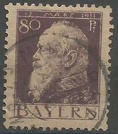Bavaria - 1911 Prince Luitpold Birthday 80pf Used    SG 147 Type 1 - Bavaria