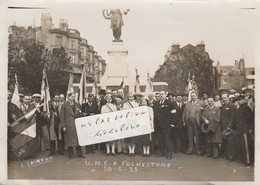 FOLKESTONE - Un Groupe  U.N.C.A  Entre 1935  (  Photo 17,5 Cm X 12,5 Cm ) - Folkestone