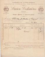 Algérie Facture 24/5/1890 DESLINIERES Vignoble Oued Djemaa Oued Marsa Près Bougie De Moulins à Chodillon Bézenet Allier - Factures & Documents Commerciaux